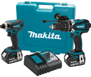 Makita XT218-R 18V LXT Lithium‑Ion Cordless 2‑Pc. Combo Kit 3.0Ah, Reconditioned