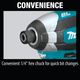Makita XDT13Z 18V LXT® Lithium‑Ion Brushless Cordless Impact Driver [Open Box], (New)