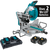 Makita XSL06PT-R 18V X2 36V LXT Lithium‑Ion Brushless Cordless 10 in. Dual‑Bevel Sliding Compound Miter Saw with Laser Kit 5.0Ah, Reconditioned