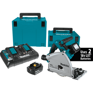 "Makita XPS01PTJ 18V X2 LXT® Lithium‑Ion (36V) Brushless Cordless 6‑1/2"" Plunge Circular Saw Kit 5.0Ah, (Reconditioned) - ToolSteal.com"