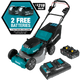 Makita XML06PT1 Self‑Propelled Commercial Lawn Mower Kit with 4 Batteries (5.0Ah) (New) - ToolSteal.com
