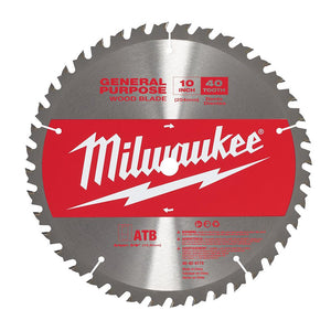 Milwaukee 48-40-4174 10 In. 40 Tooth General Purpose Blade New