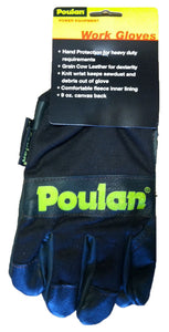 Poulan Fleece Lined Cow Grain Leather Chainsaw Work Gloves - 952-071807, (New) - ToolSteal.com
