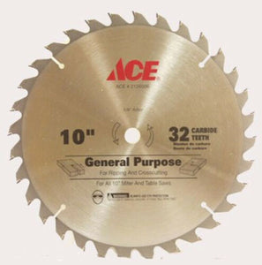 ACE 2126506 General Purpose Carbide-tipped 10 in. 32T Saw Blade, 3 Pack New