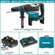 "Makita XRH07PTU  18V X2 LXT® Lithium‑Ion (36V) Brushless Cordless 1‑9/16"" Advanced AVT® Rotary Hammer Kit, accepts SDS‑MAX bits, AWS™ (5.0Ah), (New)"