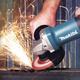 "Makita 9557PB 4‑1/2"" Paddle Switch Angle Grinder with AC/DC Switch, Reconditioned"