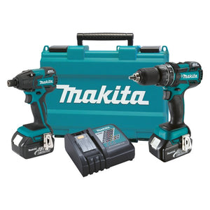"Makita XT248M 18V Brushless 1/2"" Hammer Drill Impact Driver Kit (4.0Ah), (New) - ToolSteal.com"