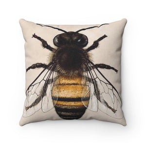 Bee Polyester Square Pillow