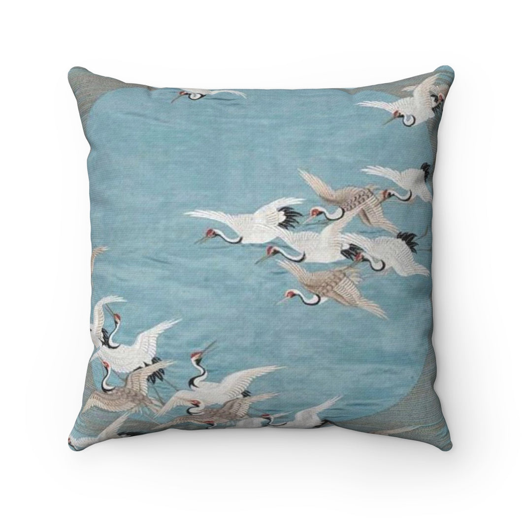 Flocked Polyester Square Pillow