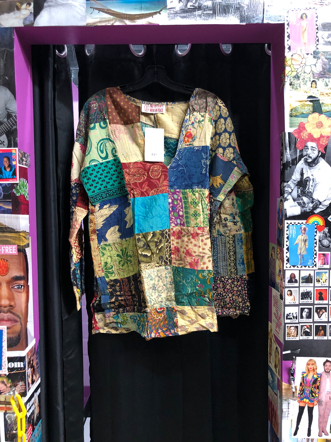 Long Sleeve Patchwork Shirt