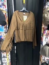 Load image into Gallery viewer, Psuedo Suede Fringe Cardigan