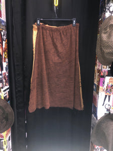 Brown Slashed Skirt