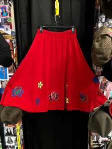 Red Patch Skirt
