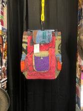 Load image into Gallery viewer, Patchwork Drawstring Backpack