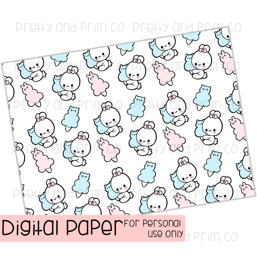 Cotton Candy Penelope Digital Paper