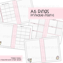A6 Rings - Homeschool Bundle Sunday Monthly Start Printable Inserts