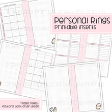 Personal Rings - Homeschool Bundle Sunday Monthly Start Printable Inserts