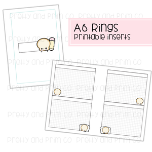 A6 Rings - Toastie Multi Graph Printable Inserts