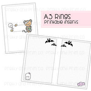 A5 Rings - Super Cute Halloween Graph Printable Inserts