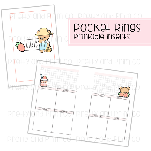 Pocket Rings - Strawberry Henry Weekly Printable Inserts