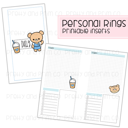 Personal Rings - Henry's Coffee Shop Daily Printable Inserts