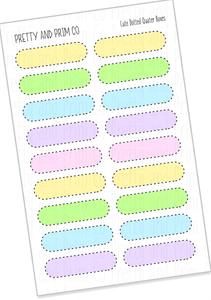 Pastel Cute Dotted Quater Boxes