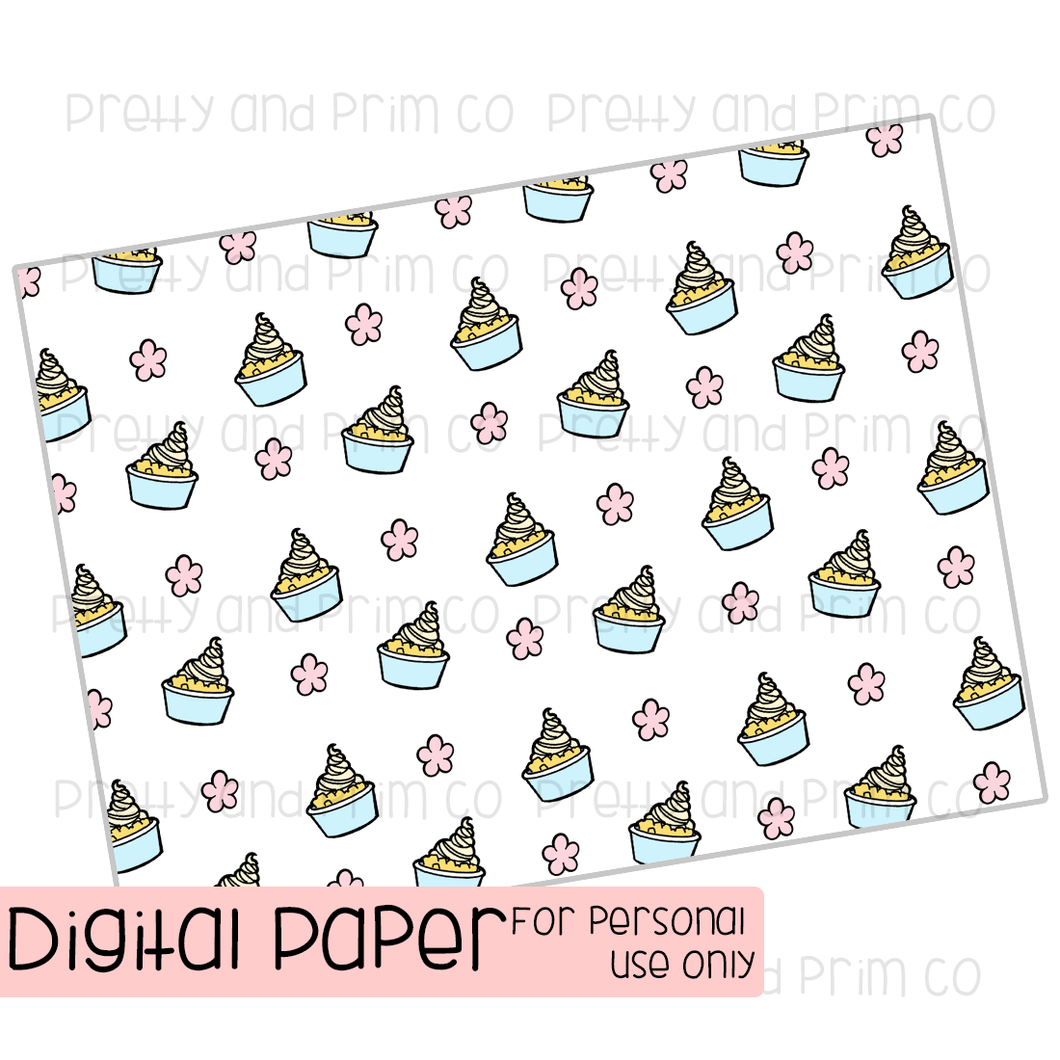 Pineapple Whip Digital Paper