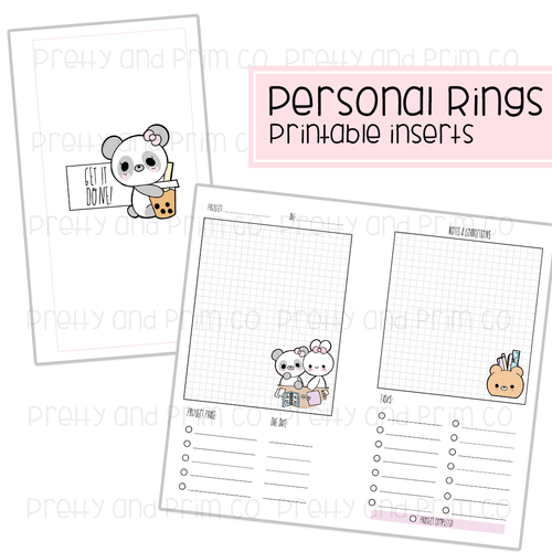 Personal Rings - Project Planner Printable Inserts