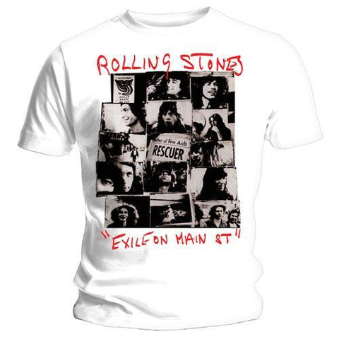 Rolling Stones Exile on Main Street - Rescue - Mens White T-Shirt