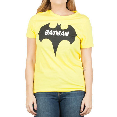 Batman Bat Yellow Tee Shirt DC Comics T-Shirt