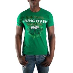 Irish Today Hung Over Tomorrow Drinking Beer Mugs Men's Green T-Shirt Tee Shirt