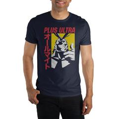 MHA My Hero Academia All Might Plus Ultra Men's Black T-Shirt Tee Shirt