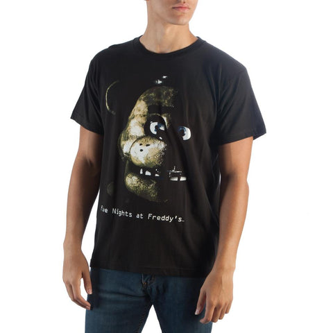 Five Nights at Freddy's Black T-Shirt -T-Shirt - EDs Basic Tees