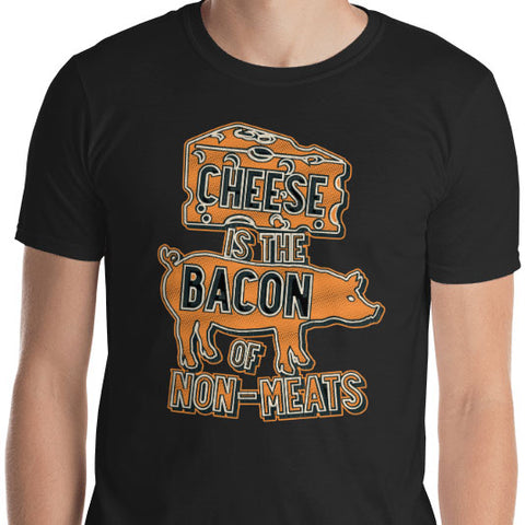 Cheese is the Bacon of Non-Meats Orange Graphic T-Shirt