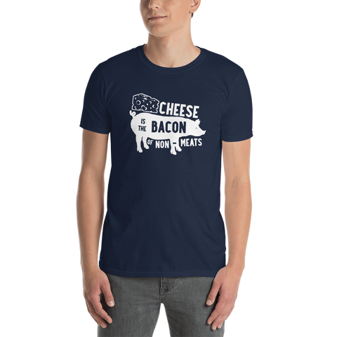 Cheese is the Bacon of Non-Meats Basic Tee -T-Shirt - EDs Basic Tees