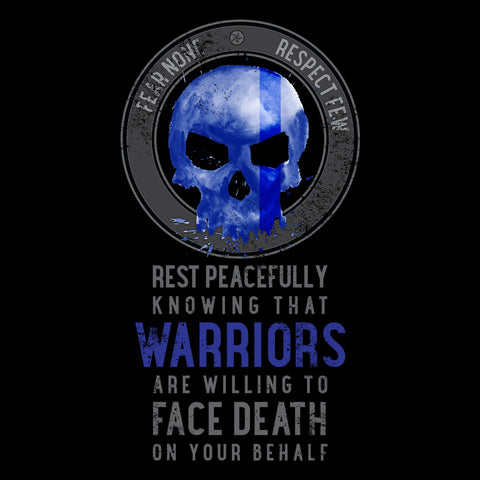 Rest Peacefully Knowing That Warriors Are Willing to Face Death on Your Behalf Skull Short-Sleeve T-Shirt