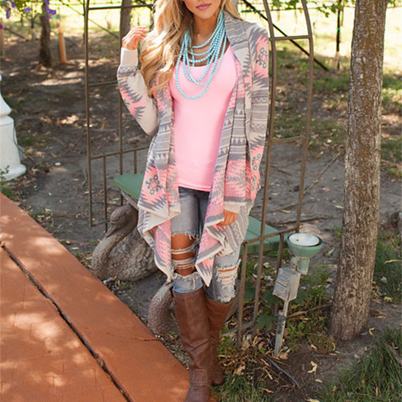 Light Aztec cardigan