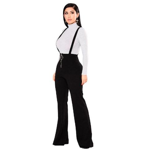 Flared Suspender pants
