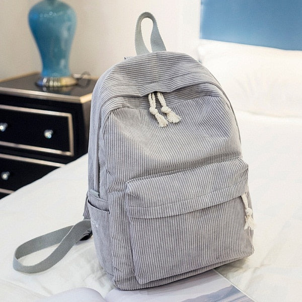 Soft Suede Backpack | Grey