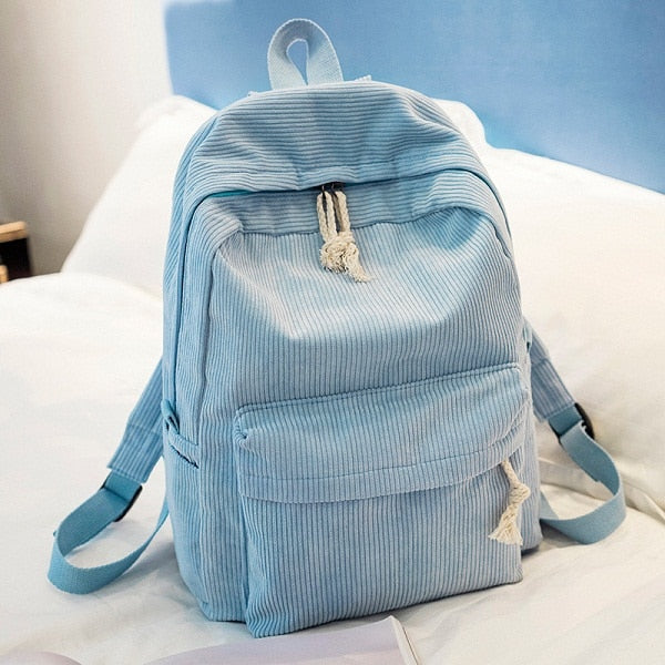 Soft Suede Backpack | Blue