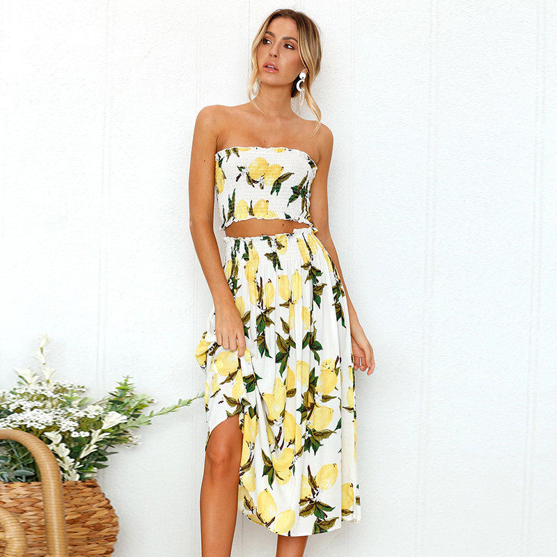 LEMON/SUNFLOWER 2 PCE SUMMER DRESS - oceanscollection