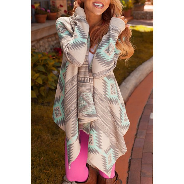 LIGHT AZTEC CARDIGAN - oceanscollection