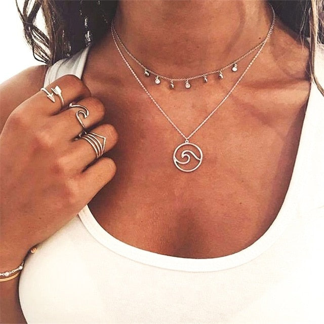 Vintage Layered Necklace | Yin&Yang