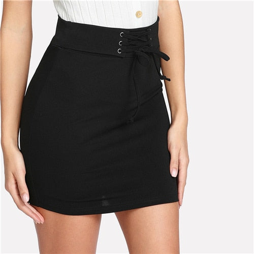 Katie Lace Up Skirt