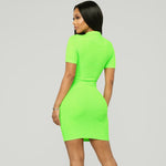 Veronica Neon dress - Green