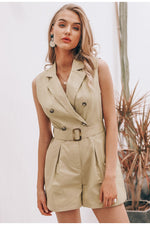 Safari Susan playsuit - Khaki