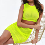 Jessica Mesh Two piece - Green