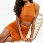 Jessica Mesh Two piece - Orange
