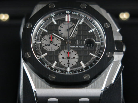 Audemars Piguet Royal Oak Offshore Chronograph Novelty Titanium Ceramic Bezel 44 mm 26400