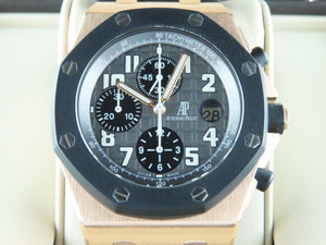 "Audemars Piguet Royal Oak Offshore Chronograph Rubber Bezel 18 ct. Rose Gold ""G"" Series"